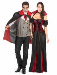 Kostuum voor koppels: Halloweenvampieren