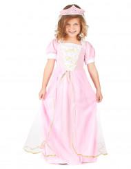 Roze prinsessen kostuum met tiara voor meisjes