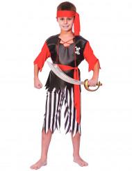 Piratenpak met gestreepte broek voor jongens