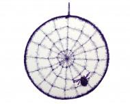Paars spinnenweb Halloween versiering