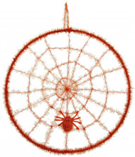 Oranje spinnenweb