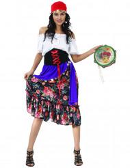 Kleurrijke bloemen zigeuner kostuum voor vrouwen