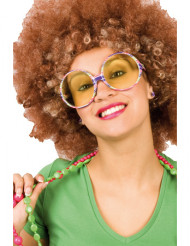Kleurrijke getinte hippiebril voor volwassenen