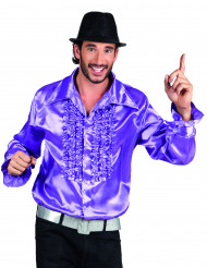 Paarse disco overhemd voor mannen