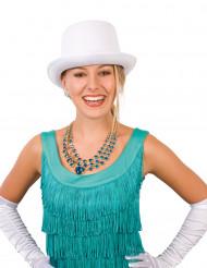 Effen witte hoge hoed voor volwassenen