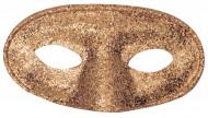 Goudkleurig halfmasker voor volwassenen