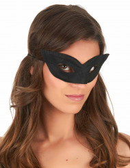 Puntig zwart halfmasker voor volwassenen