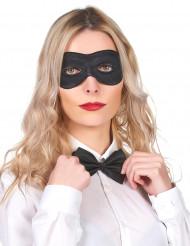Zwart rond halfmasker voor volwassenen