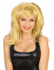 Blonde damespruik