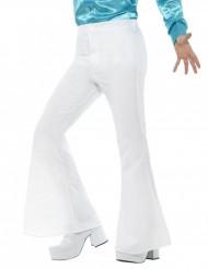 Witte disco broek voor heren