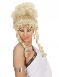 Blonde damespruik godin