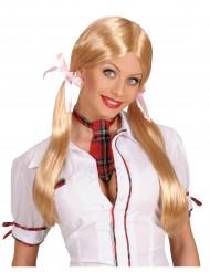 Blonde schoolmeisjespruik voor vrouwen