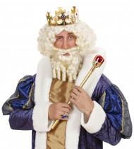 Witte koningspruik voor mannen