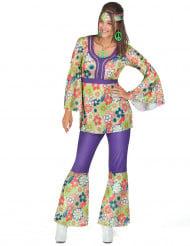 Bloemen hippie outfit voor dames