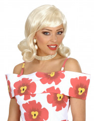 Blonde fifties damespruik
