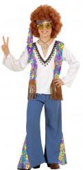 Blauw hippie kostuum voor jongens