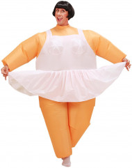 Opblaasbaar ballerina-kostuum