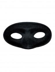 Zwart halfmasker voor volwassenen
