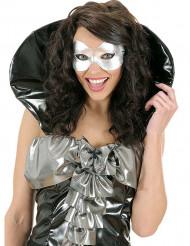 Glinsterend zilverkleurig oogmasker voor volwassenen