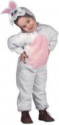 Grijs met roze konijnenkostuum voor kinderen