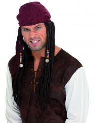 Piratenpruik met dreadlocks voor mannen