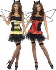 Omkeerbaar lieveheersbeestjes-bijenkostuum voor vrouwen
