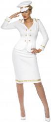 Wit officierskostuum voor vrouwen