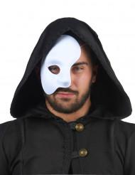 Half gezicht masker wit voor volwassenen
