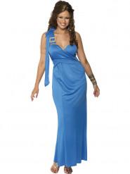 Blauwe griekse godin pak voor dames