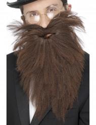 Lange bruine baard voor mannen.