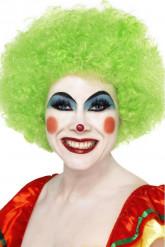 Groene afro / clown pruik voor volwassenen