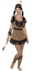 Sexy kort indianen kostuum voor dames