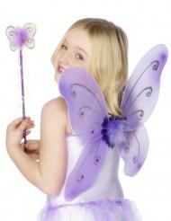 Paarse vlinderset voor meisjes