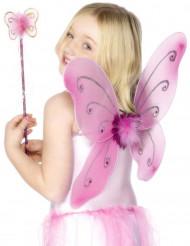 Roze vlinderset voor meisjes