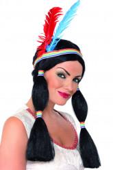 Indianenpruik met kleurrijke veren voor vrouwen