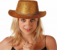 Cowgirlhoed met goudkleurige lovertjes