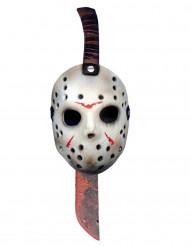 Machete en masker van Jason uit Friday the 13th™