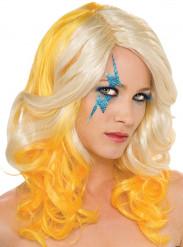 Gele en blonde Lady Gaga™ pruik voor vrouwen