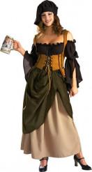Luxe middeleeuws kostuum voor vrouwen