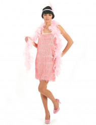 Roze charleston outfit voor vrouwen