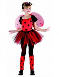 Rode en roze lieveheersbeestje outfit voor meisjes