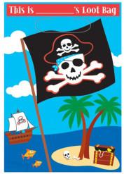 Set piraten uitdeel tasjes