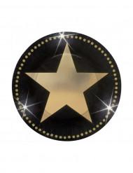 Set borden met gouden sterren