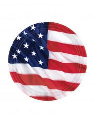 8 Amerikaans bordjes