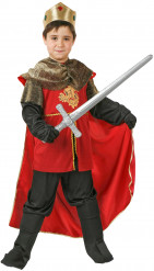 Rood en goudkleurig middeleeuwse koning pak voor jongens