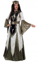 Luxe middeleeuwse koningin kostuum voor vrouwen