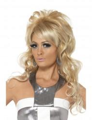 Blonde rockpruik voor vrouwen