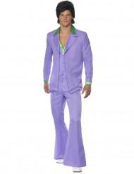 Pastelpaars 70 disco outfit voor heren