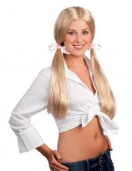 Blonde schoolmeisjes pruik