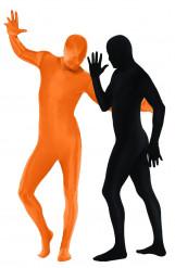 Verkleedkostuum voor koppels tweede huid in oranje en zwart Halloween kleding